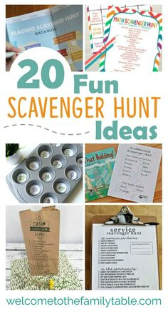 Looking for some fun scavenger hunt ideas for the family? If so, here are 20 to start you off! via Mike + Carlie Kercheval Looking for some fun scavenger hunt ideas for the family? If so, here are 20 to start you off! Funny Scavenger Hunt Ideas, Summer Scavenger Hunts, Scavenger Hunt Riddles, Outdoor Scavenger Hunts, Scavenger Hunt Birthday, Scavenger Hunt For Kids, Birthday Games For Kids, 7th Birthday, Treasure Hunt Clues