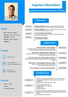 Diplome D Ingenieur Specialite Systemes D Information Et Reseaux Ecole Superieur Des Sciences Et Tech Telecharger Modele Cv Modele Cv Word Modele De Cv Design