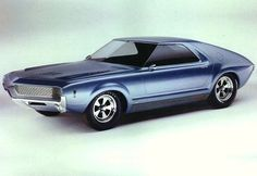 """The 1965 AMC AMX concept car was dubbed the """"pushmobile."""" It lacked an engine and needed to be pushed around."""
