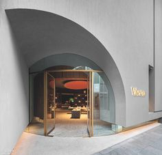 Neri&Hu's atmospheric Valextra store is based upon the layout of a library Entrance Design, Facade Design, Door Design, Exterior Design, Interior And Exterior, House Design, Retail Facade, Shop Facade, Neri And Hu