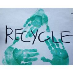 Give your kids and art project! Have them make recycle signs for bins at the party.