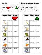 Fabulous set of materials for practicing nonstandard measurement using pattern blocks.