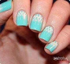 Lovely lace nails #ManicureMonday