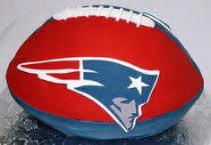 Patriots Football cake...idea for my son's bday...
