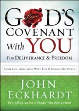 God's Covenant With You for Deliverance & Freedom... John Eckhardt helps you discover how to access God's promises for safety, protection, peace, and prosperity in every area of life! Based on the blessings listed in Leviticus and Deuteronomy,God's Covenant with You for Deliverance & Freedomoffers practical ways to help you overcome strongholds, demonic influences, and personal struggles with poor choices and habits. Softcover.