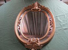 Spiegel Oval Holzrahmen GoldfarbenHöhe ca.58 cmBreite ca.38