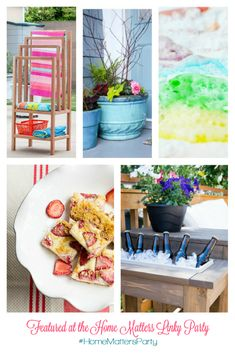 Come join the fun and link your blog posts at the Home Matters Linky Party. Find inspiration, recipes, decor, crafts, organize, home, garden, repurpose, upcycle -- Door Opens Friday EST. #diy #recipe #home #lifestyle Upcycled Home Decor, Repurposed, Diy And Crafts, Decor Crafts, Summer Parties, Summer Decorating, Decorating Ideas, Pumpkin Carving, Outdoor Living