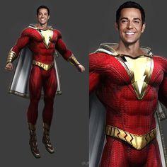 Captain Marvel Shazam, Marvel Dc, Zachary Levi, New 52, Injustice 2, Comic Character, Character Design, Dc Comics Peliculas, Black Adam Shazam