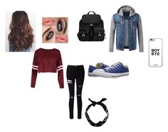 """""""Little Stilinsky(Liam Dunbar)"""" by dirtynathanielx on Polyvore featuring Converse, Prada, Miss Selfridge and New Look"""