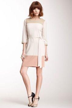 Contrast Trim Dress.