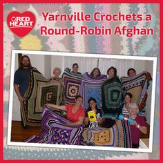 Learn about the Yarnville group and their unique round-robin afghans.