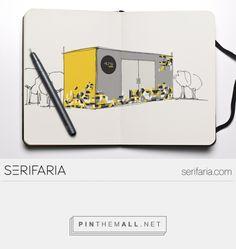 www.serifaria.com [SERIFARIA | graphic design studio] Projeto de design para stand de lançamento imobiliário da incorporadora HUMA.