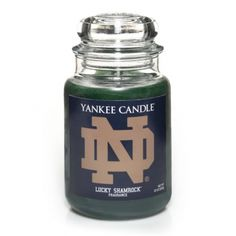 Cheer on the University Of Notre Dame with the Yankee Candle Lucky Shamrock™ Large Jar Candle!