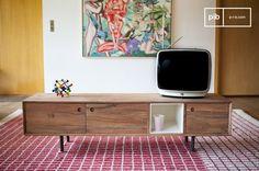El mueble TV vintage Bascole es un mueble TV o una consola retro que se puede colocar en cualquier interior.