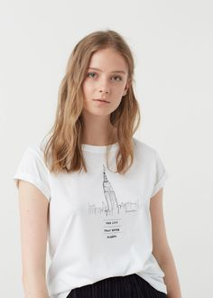 Cotton t-shirt - Women | Mango outlet, Cotton and Products