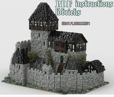 Lego Office, Office Art, Cool Lego, Awesome Lego, Lego Structures, Lego Books, Medieval Fortress, Amazing Lego Creations, Lego Castle