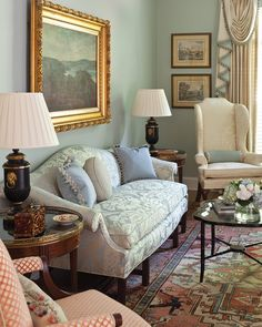 Timeless and Traditional by Patricia McLean – The Glam Pad - living room designs Traditional Living Room Furniture, Design Apartment, Formal Living Rooms, Modern Living, Small Living, English Living Rooms, Modern Family, Luxury Living, Living Spaces