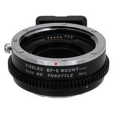 Vizelex ND Throttle Auto Adapter from Fotodiox Pro - Canon EOS EF Lens to Sony NEX APS-C E-Mount Cameras, Lens Mount Adapter with Built-In Variable ND Filter (ND2-ND1000) AND Automated Functions  $199.95