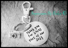 Stamped Keychain for Wedding Party by ImpressionsByBailey on Etsy