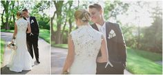 Love the back of this St. Pucchi dress!!  Jessica  & John // Married at The Desmond Hotel