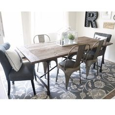 wood and metal dining room by @msrollman