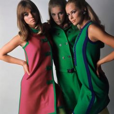 Lauren Hutton and other models photographed by Marc Hispard, 1966.