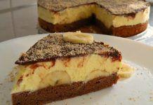 Tort cu banane si crema de vanilie Food Cakes, Dessert Bars, Cake Recipes, French Toast, Cheesecake, Breakfast, Mousse, Desserts, Banana