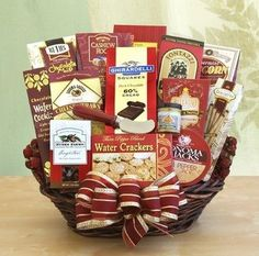 This holiday season, choose from a wide assortment of gourmet holiday baskets perfect for corporate gifts, parties, or even a gift for Granny! Send Christmas gift baskets with same-day delivery to Sarasota & cities nationwide. Thank You Gift Baskets, Holiday Gift Baskets, Gourmet Gift Baskets, Gourmet Gifts, Food Gifts, Thank You Gifts, Gourmet Recipes, Holiday Gifts, Food Baskets