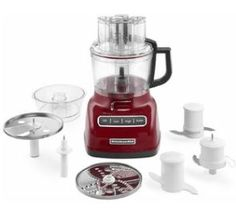 KitchenAid 9 Cup Food Processor with ExactSlice System - Red Best Food Processor, Food Processor Recipes, Costco, Kitchen Shop, Little Kitchen, Fresh Fruits And Vegetables, Cake Shop, V60 Coffee, Bakeware