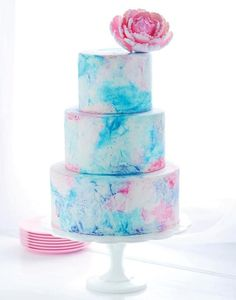 Water color wedding cakes | Mine Forever