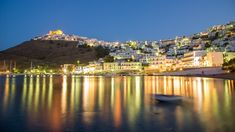 Astypalaia where? That was the comment I received from most of my friends when I talked about my next destination in Greece. Indeed, a remote and beautiful isla Beach Place, Beach Tops, Night Lights, Beaches, Greece, Remote, Travel Photography, Island, Explore