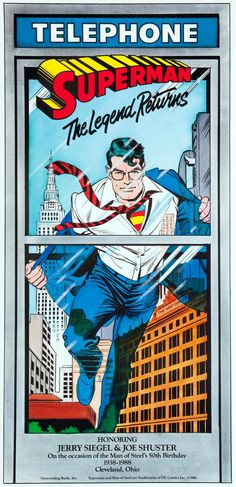 """Superman the Legend Returns,"" a double-sided poster by Jose Luis Garcia-Lopez and Dick Giordano, printed in 1986."