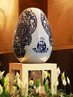 Jacky Tsai's Porcelain Skull Egg for Faberge Egg Hunt. In New York at the same time as AAF Spring edition, 2014