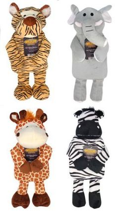 Hot Water Bottle with Plush Jungle Animals Cover  Price : £8.99 http://www.hotwaterbottleideas.co.uk/Water-Bottle-Plush-Jungle-Animals/dp/B009FLEU56