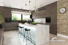 Nevada - Dobre Domy Flak & Abramowicz Nevada, Kitchen, Table, House, Furniture, Home Decor, Prefab Homes, Interiors, Cooking