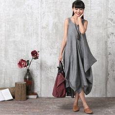 Informal holgada ropa de manga corta vestido largo por deboy2000