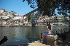 View of Dom Luis Bridge and the River Douro, Vila Nova De Gaia near Porto, Portugal - from www.packthesuitcases.com