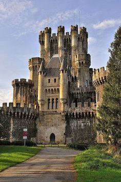 Butron Castle, Basque Country, Spain. This castle is the world's largest existing medieval castle in the world.