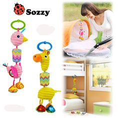 Happy Giraffe Newborn Infant Baby Soft Toys Baby Rattle Tinkle Hand Bell For Tots Plush Mobiles In Baby Bed/Crib Stroller WJ415
