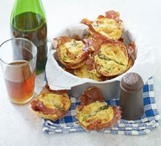 Mini prosciutto & asparagus frittatas recipe, These simple savouries are a great addition to your first picnic of the year – or as a light lunch treat, whatever the weather Asperges Prosciutto, Prosciutto Asparagus, Asparagus Recipe, Mini Quiches, Mini Frittata, Bbc Good Food Recipes, Cooking Recipes, Yummy Food, Uk Recipes