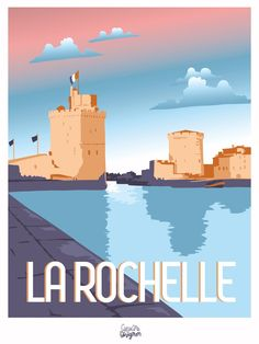 Art Deco Artwork, Art Deco Posters, Beach Posters, Ville France, Image Fun, Travel Illustration, Beaches In The World, Best Vibrators, Travel Memories