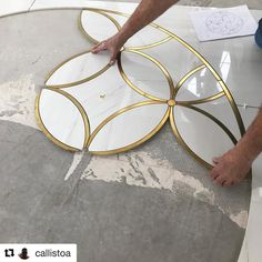 One of our beautiful custom mosaics with ・・・ Shout out to all the tile setters out there! A very intricate… Metal Clock, Metal Wall Art, Mosaic Designs, Wall Art Designs, Floor Design, Tile Design, Marble Tile Bathroom, Tiling, Brick Wall Decor