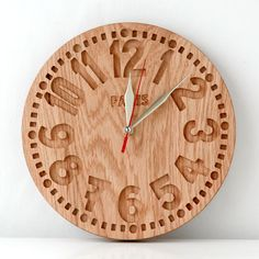 Clock made with CNC router. Router Projects, Wood Projects, Woodworking Projects, Bois Diy, Cool Clocks, Diy Clock, Wooden Clock, Wood Carving, Wood Art