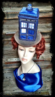 The TARDIS  Police Box T.A.R.D.I.S. Hat  by ClockworkCouture, $279.95