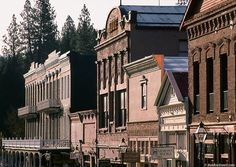 Nevada City, CA I always think of this beautiful little town tucked away between pine trees...I want to return.