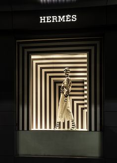 Hermes,Sydney, Australia, B&W stripes, pinned by Ton van der Veer