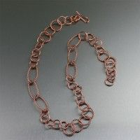 #Copper Cable Link #Necklace. The perfect go-anywhere necklace!   http://www.ilovecopperjewelry.com/copper-cable-link-necklace.html  $225.00