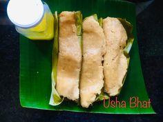 Konkani Recipes, Jackfruit Recipes, Cardamom Powder, Rice Flour, Turmeric, Hot Dog Buns, The Cure, Coconut, Banana