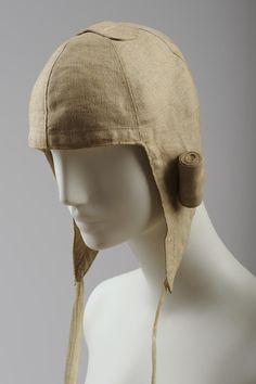 Goldmann & Salatsch, Autofahrerhaube, 1900, Leinen © Wien Museum Museum, Vienna, Winter Hats, History, Spring, Clothes, Collection, Style, Fashion