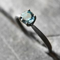 Blue Topaz Ring Oxidised Silver, 75€, now featured on Fab.